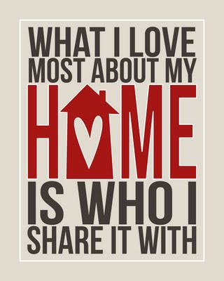 home is who i share it with