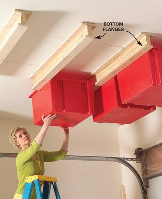 garage mounted ceiling storage
